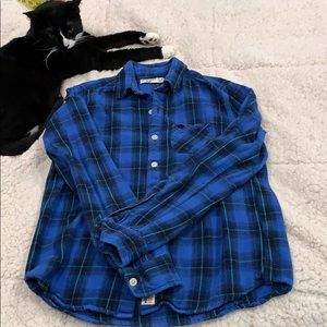 Abercrombie boys button down plaid shirt
